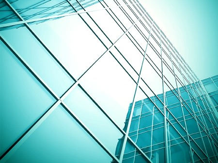 modern glass skyscraper perspective view Stock Photo - 7891787