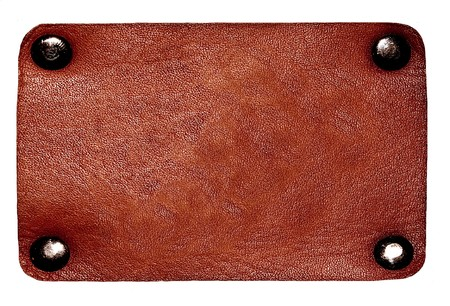 Brown leather label photo