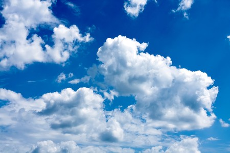 beautiful blue-sky with clouds Stock Photo