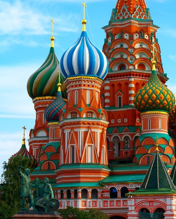 blessed trinity: St. Basils Cathedral on Red square, Moscow, Russia