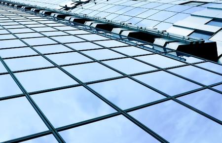modern green glass skyscraper perspective view Stock Photo - 7891825