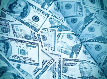 Magazin der Dollar Geld Hintergrund Standard-Bild - 7891978