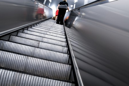 diminishing: diminishing escalator in metro
