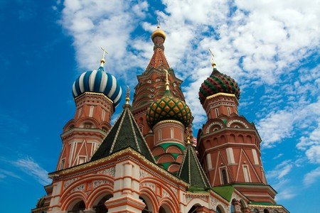 red square moscow: St. Basils Cathedral on Red square, Moscow, Russia Stock Photo