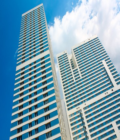 modern glass skyscraper perspective view Stock Photo - 7971038