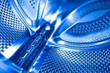 blau Waschmaschine Trommel  Lizenzfreie Bilder