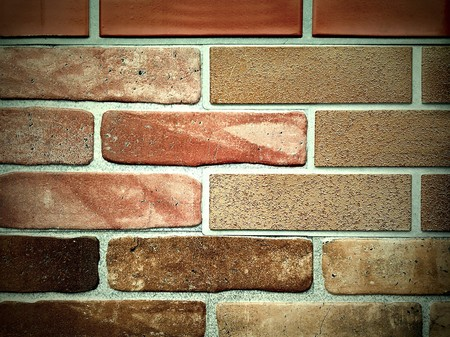 colored brick-wall texture of fireplace Stock Photo - 8103609