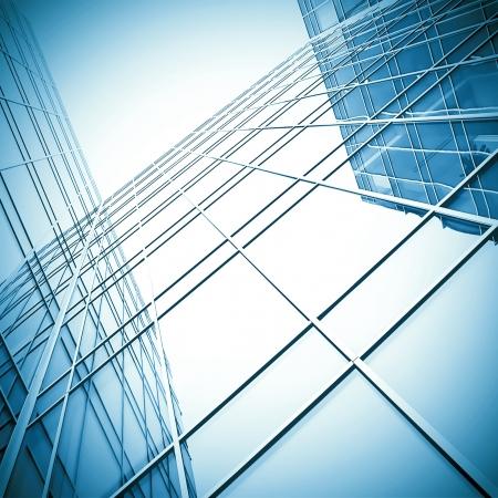 bloquear con bienes raíces de la vista de perspectiva de rascacielos de cristal