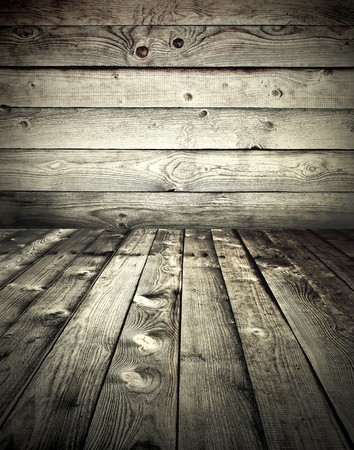 grunge wooden styled interior photo