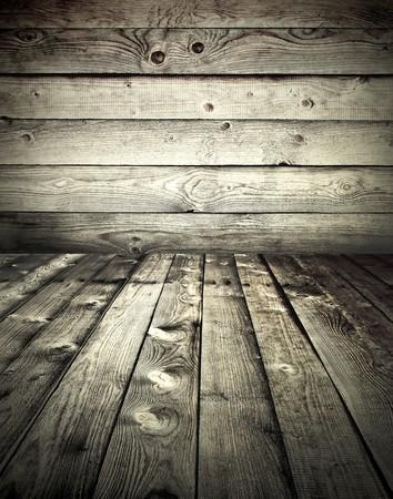 grunge wooden styled interior Stock Photo - 8103595