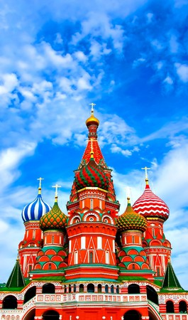 Cathedral of Vasily the Blessed on Red Square Moscow Russia Stock Photo - 8103438