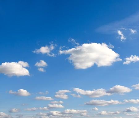 clouds in the blue sky photo