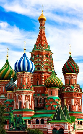 sights of moscow: The Cathedral of Saint Basil the Blessed