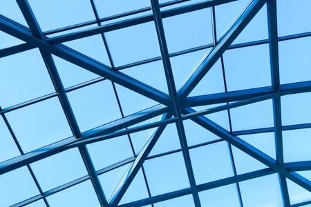 Transparent ceiling inside modern building photo