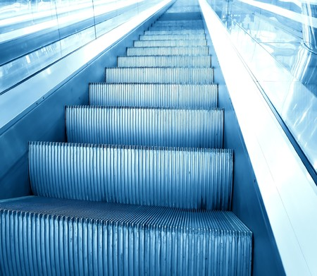 vanishing: motion of vanishing escalator Stock Photo