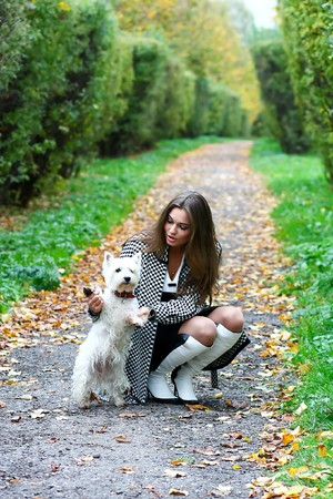 portrait of beautiful girl with her dog Stock Photo - 8156604