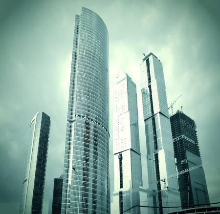 glass skyscrapers in gale photo