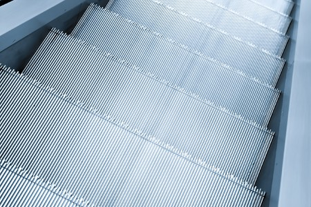 gray steps of escalator in business center Stock Photo - 8159703