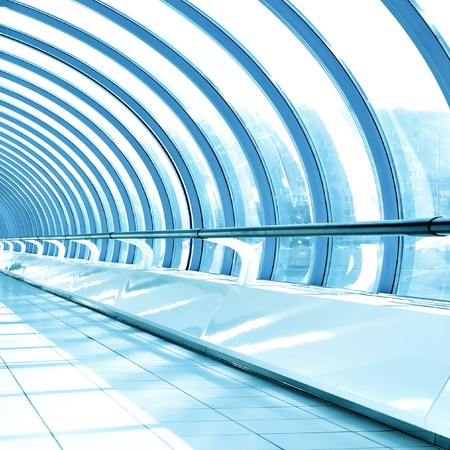 shiny ceiling inside clean hallway Stock Photo - 8159551