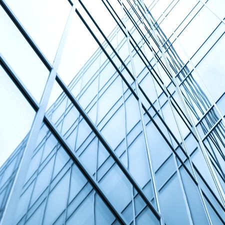 perspective wall of glass modern building photo