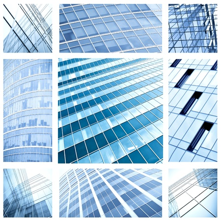 contemporary collage of blue glass architectural buildings Stock Photo - 8431899