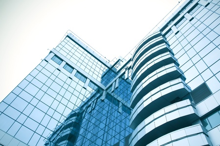 abstract blue building skyscraper Stock Photo - 8431784