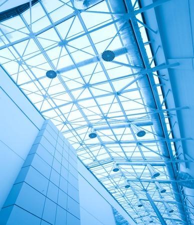 modern roof inside office center  photo
