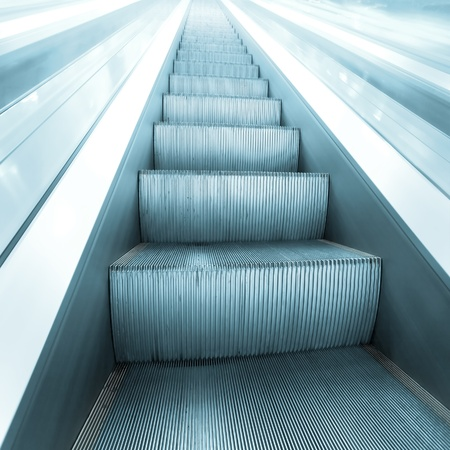 steps of escalator in business center photo