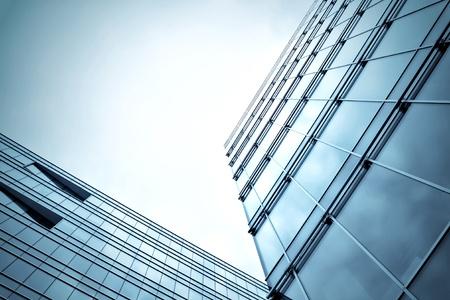 abstract blue building skyscraper Stock Photo