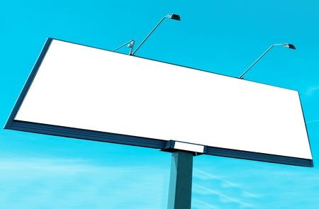 proclamation: Blank big billboard over blue cloudy sky
