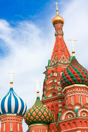 minin: Domes of the famous Head of St. Basils Cathedral on Red square, Moscow, Russia