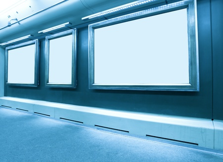 wall with blank frames Stock Photo - 8930917