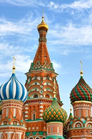 Cathedral of Vasily the Blessed in the Heaven Stock Photo - 9351920