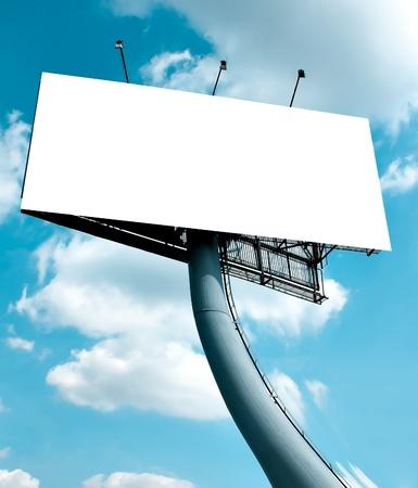 empty blank billboard photo
