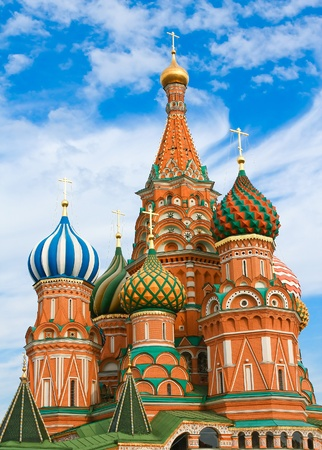 Cathedral of Vasily the Blessed on Red Square Moscow Russia Stock Photo - 9536420