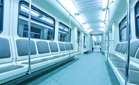 treno espresso: all'interno della metropolitana Archivio Fotografico