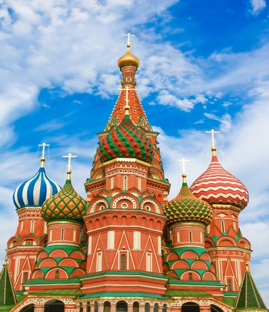 cathedrals: St. Basils Cathedral on Red square, Moscow, Russia Stock Photo