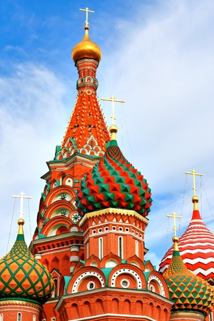 Cathedral of Vasily the Blessed on Red Square Moscow Russia Stock Photo - 9958586