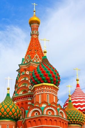 Cathedral of Vasily the Blessed on Red Square Moscow Russia Stock Photo - 9959135