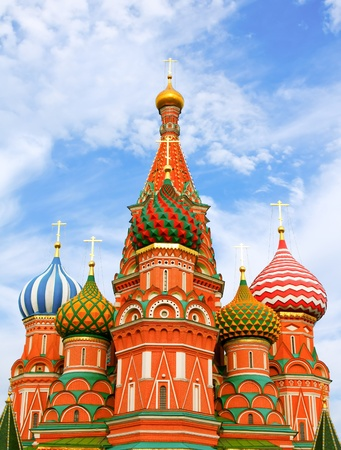 Cathedral of Vasily the Blessed on Red Square Moscow Russia Stock Photo - 9958631