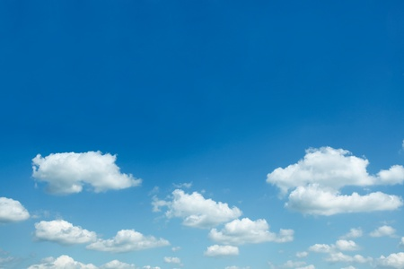 blue sky: beautiful sparse clouds in the blue sky