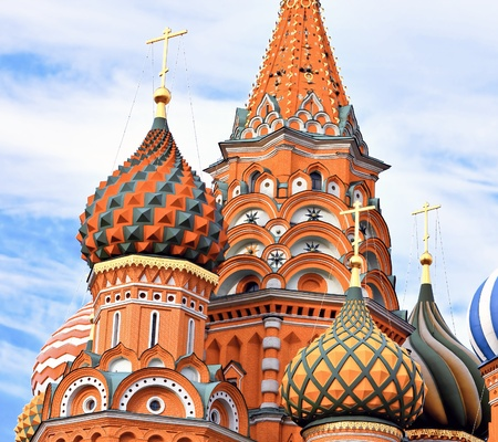 Cathedral of Vasily the Blessed on Red Square in Moscow, Russia photo