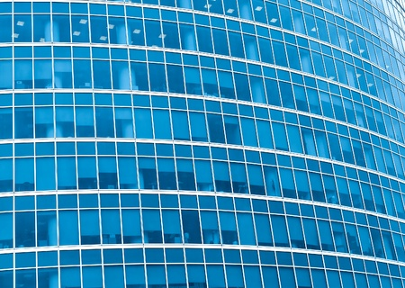 blue pane of modern downtown photo