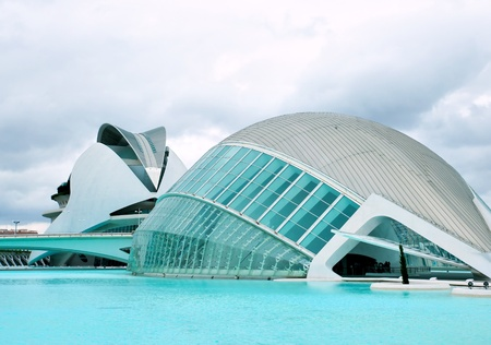 hemispheric: VALENCIA, SPAIN - JULY 22: Hemisferic in The City of Arts and Sciences on July 22, 2011 in Valencia, Spain. This futuristic building was designed by the famous architect Santiago Calatrava.