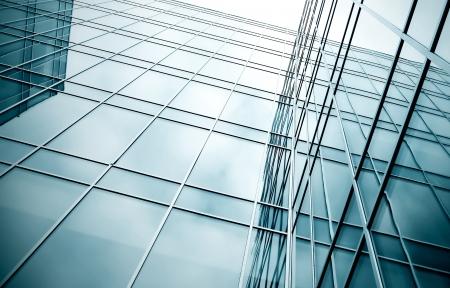 Immobilie der verglasten Wolkenkratzer perspektivische Ansicht
