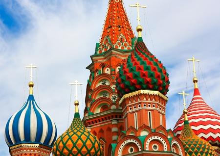 palacio ruso: Cúpulas de la famosa cabeza de San Basilio