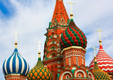 Domes of the famous Head of St. Basil photo