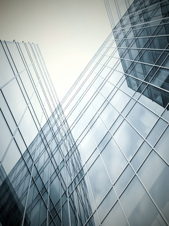 zeitgenössische schwarz gestreifte Textur der Glasarchitektur