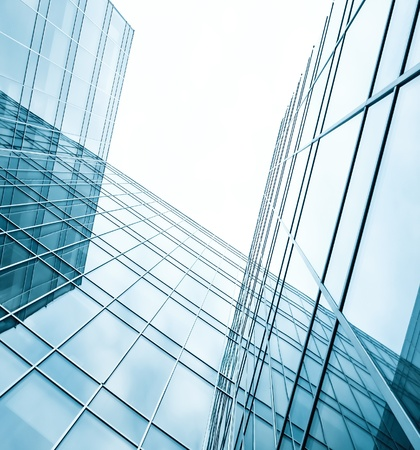 contemporary design of glass skyscrapers, business background photo
