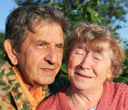 Beautiful elderly happy couple photo